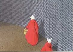 "The cover of ""The Handmaid's Tale"" by Margaret Atwood, first published in 1985."