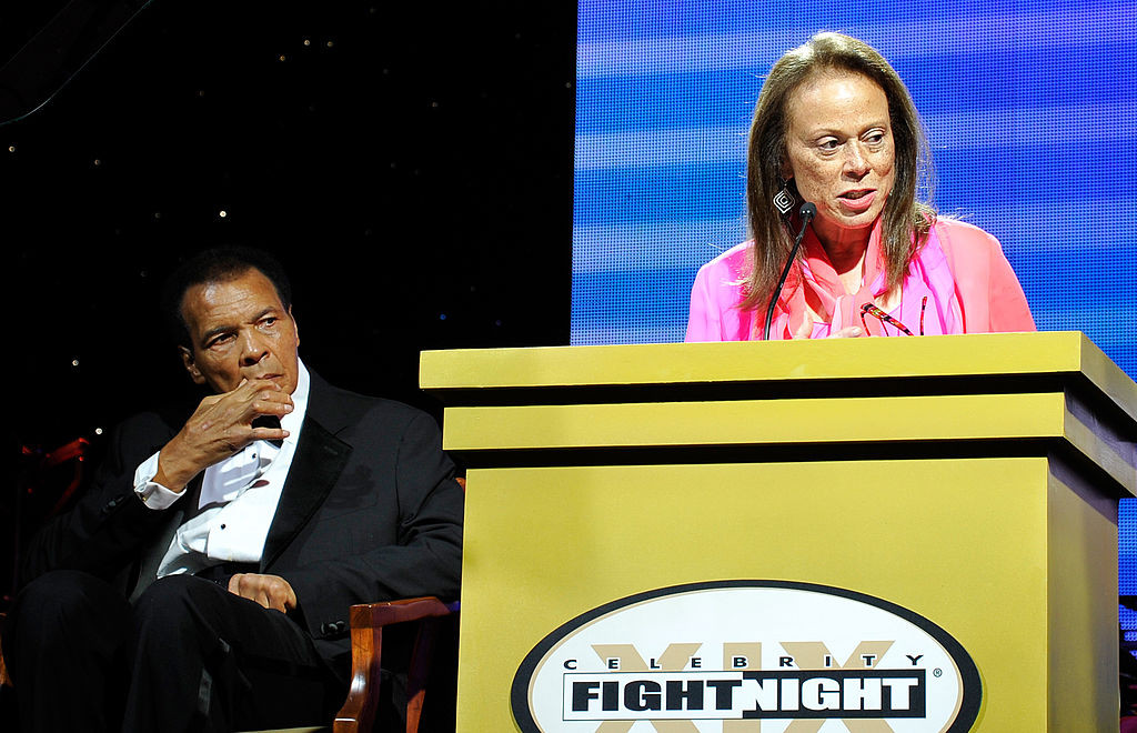 Boxing legend Muhammad Ali and his wife, Lonnie Ali, attend his Celebrity Fight Night XIX in 2013 at JW Marriott Desert Ridge Resort & Spa in Phoenix, Arizona.