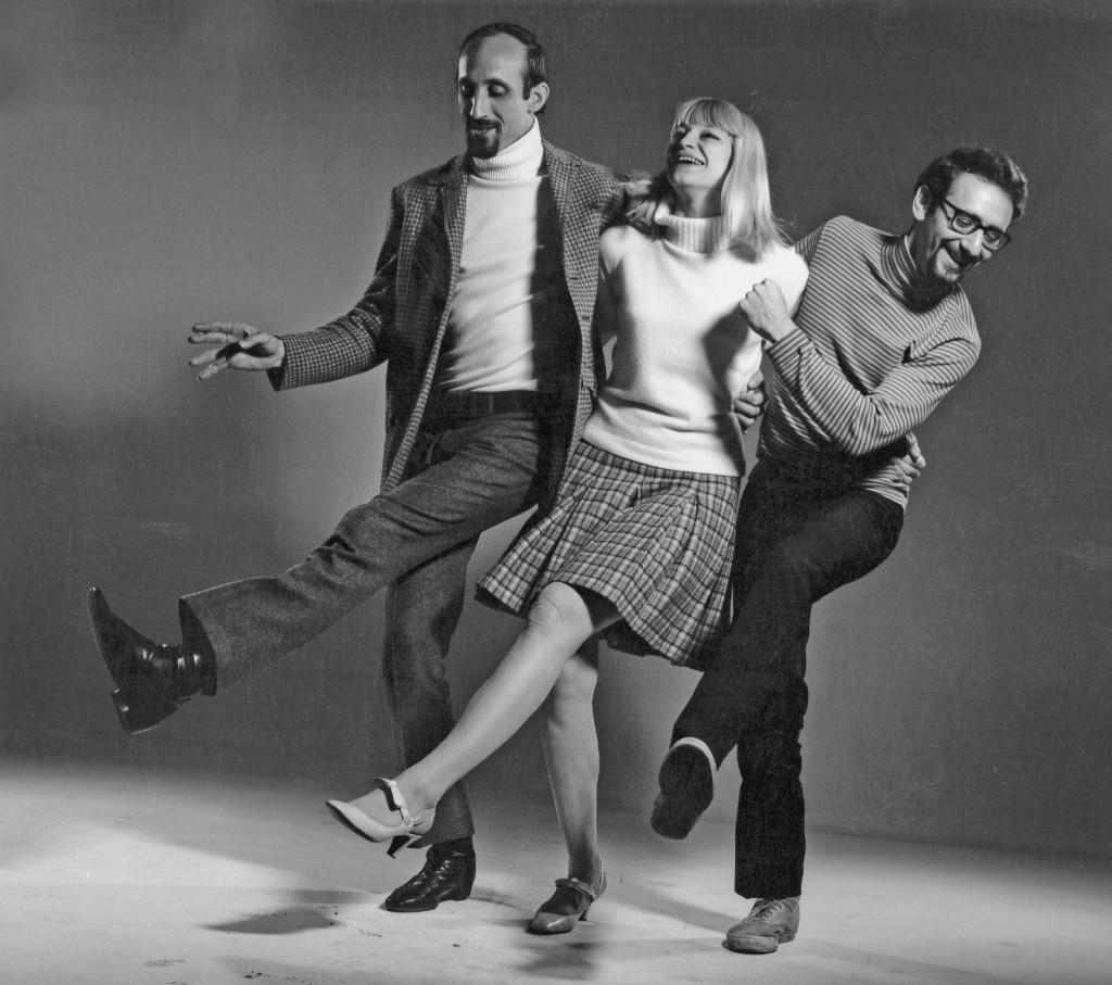 Peter, Paul and Mary pose for a shoot for  the Saturday Evening Post.