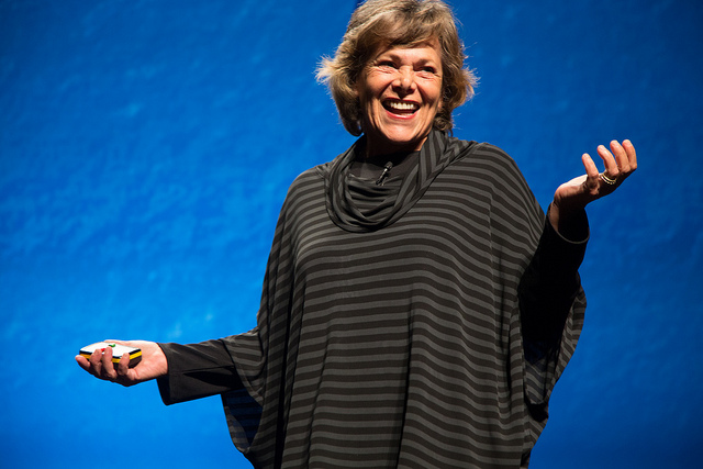 Ellen Langer speaks at the PopTech2013 conference in Camden, Maine.