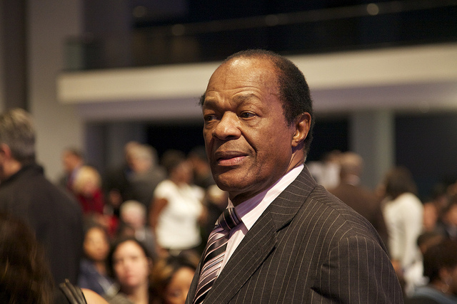 The late Mayor Marion Barry, pictured here at Vincent Gray's inauguration.