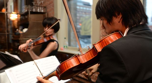 Musicians perform classical music at the 'Fifty Shades Of Grey' - The Classical Album Launch Event at Soho House on September 17, 2012 in New York City.