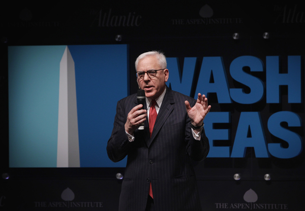 Carlyle Group Co-Founder and Co-CEO David Rubenstein speaks during a session at the sixth annual Washington Ideas Forum, hosted by The Aspen Institute and the Atlantic, October 29, 2014 in Washington, D.C.