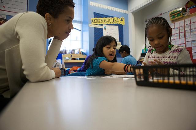 A bilingual classroom.