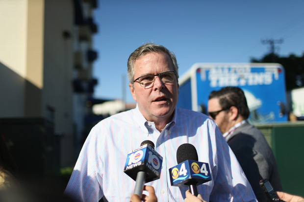 Former Florida Governor Jeb Bush speaks to the media on December 17, 2014 in Miami, Florida.