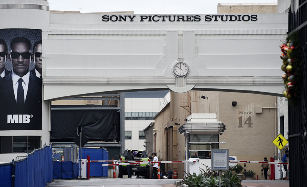 "The entrance of Sony Pictures Studios in Culver City, California is seen December 16, 2014.  ""Guardians of Peace"" hackers invoked the 9/11 attacks in their most chilling threat yet against Sony Pictures, warning the Hollywood studio not to release a film which has angered North Korea."
