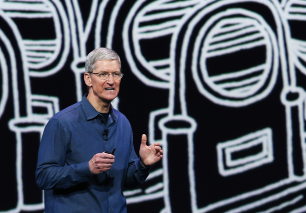 Apple CEO Tim Cook speaks during an Apple special event at the Flint Center for the Performing Arts on September 9, 2014 in Cupertino, California. Cook came out as gay last year.