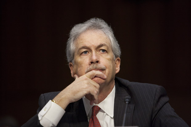 William Burns listens during his testimony during a Senate Foreign Relations Committee hearing in 2012 in Washington, D.C.