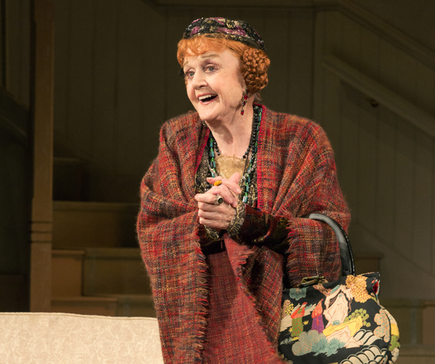 Angela Lansbury as Madame Arcati in the North American tour of Noël Coward's Blithe Spirit.