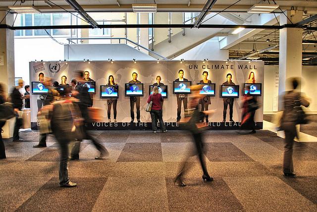 UN Climate Wall at COP 15, Copenhagen.