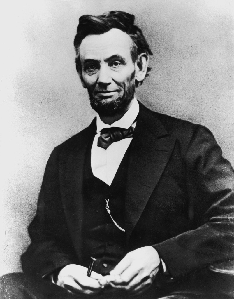 Portrait of American President Abraham Lincoln (1809 - 1865).