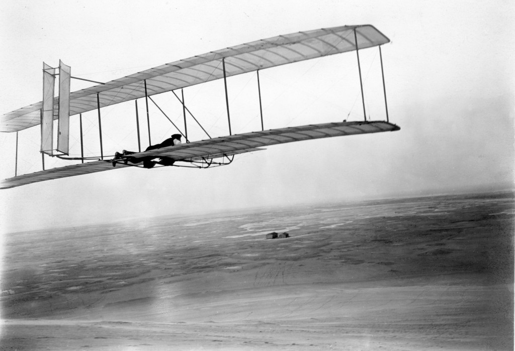 The Wright Brothers' 1902 glider.