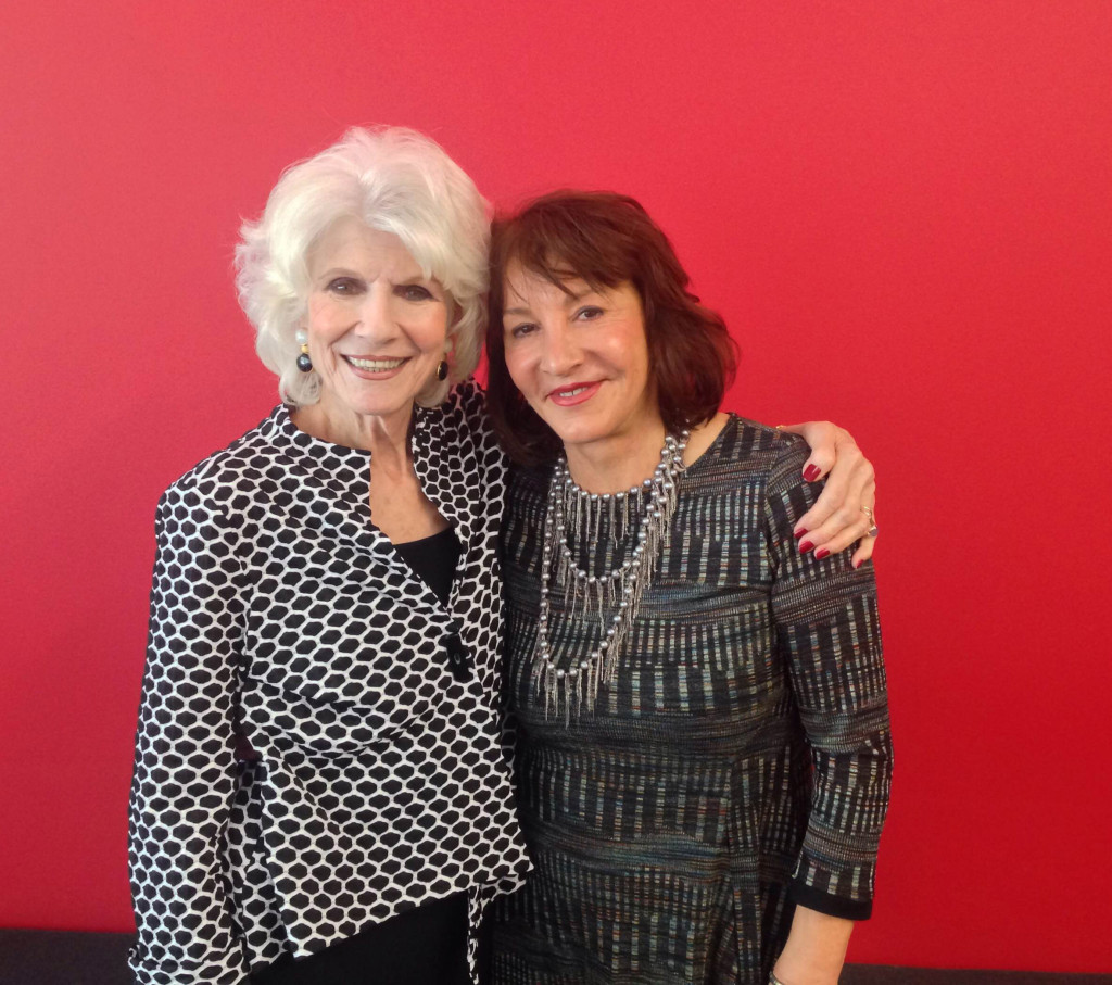 Diane and Nora Pouillon after their April 21 interview.