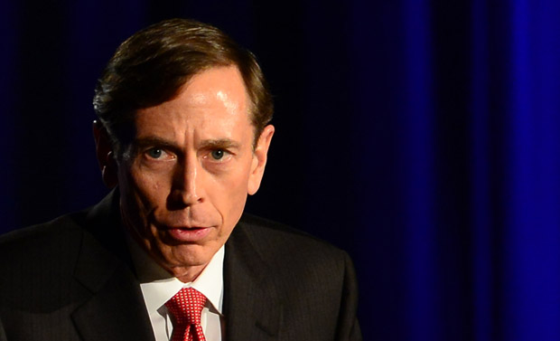 This 2013 photo shows Former CIA director David Petraeus at an event honoring the military at the University of Southern California in Los Angeles.