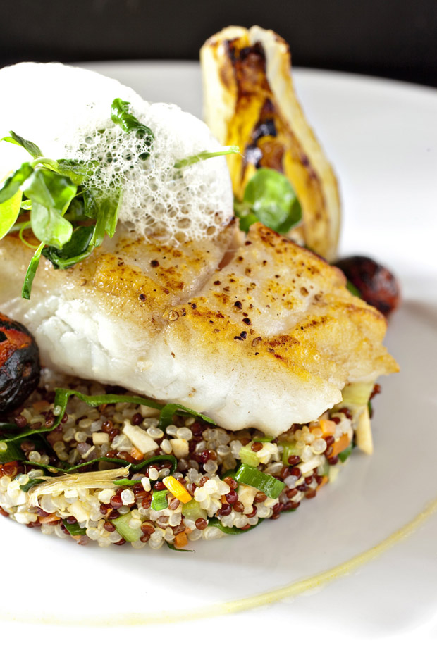 Rockfish with quinoa at Restaurant Nora.