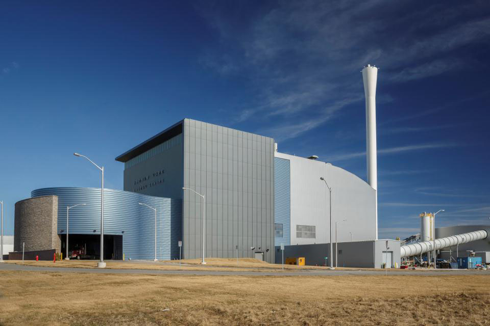 A new Covanta energy from waste facility in the Durham Region of Ontario.