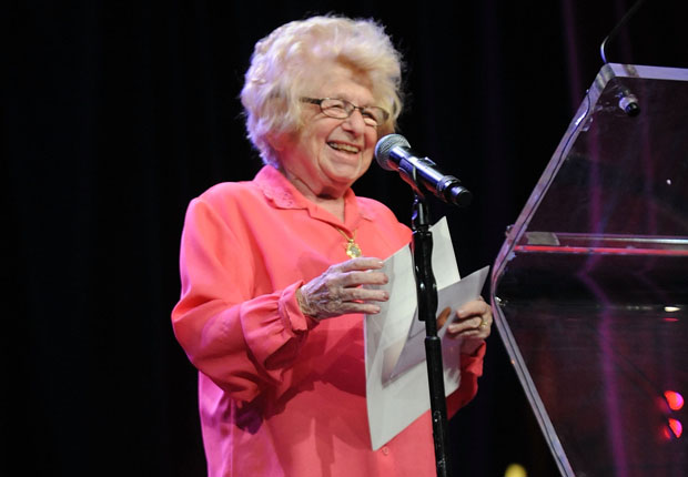Dr. Ruth K. Westheimer attends the The 58th Annual New York Emmy Awards on May 2 at Marriott Marquis Times Square