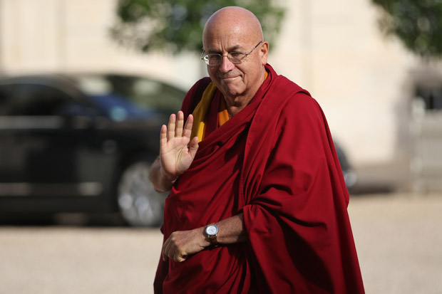 French Buddhist monk Matthieu Ricard arrives  at the Elysee presidential Palace in Paris.