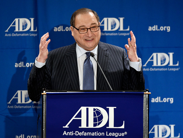 Abraham Foxman speaks during as he is honored by the Anti-Defamation League  (ADL) at its 2014 Annual Meeting at The Beverly Hilton in Beverly Hills, California.