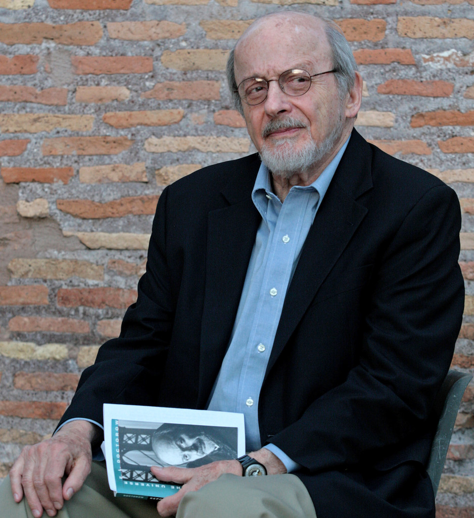 This 2007 photo shows E.L. Doctorow at the 6th Festival of Literature at Massenzio Basilica in Rome, Italy.