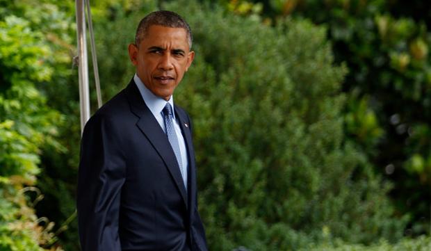 U.S. President Barack Obama departs the White House on July 21 in Washington, D.C.