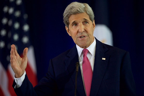 Secretary of State John Kerry delivers a speech Sept. 2 on the nuclear agreement with Iran at the National Constitution Center  in Philadelphia.