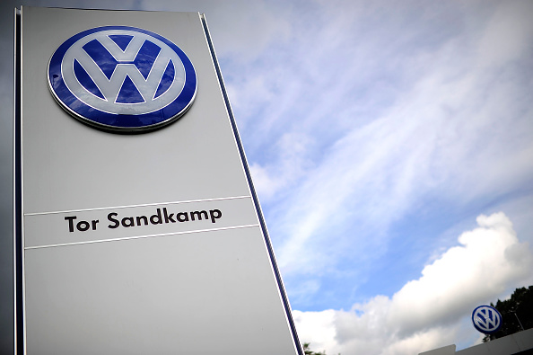 The main entrance gate at Volkswagen production plant on September 23, 2015 in Wolfsburg, Germany.