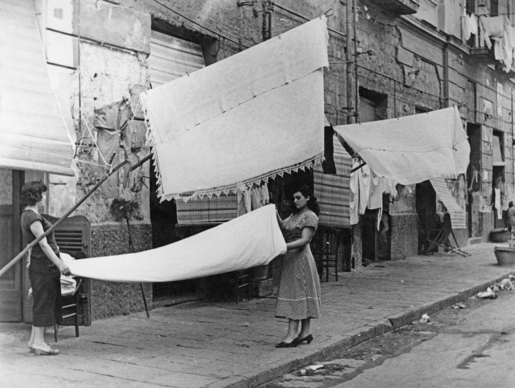 Friday is Wash Day for the people of Naples, Italy, July 1956.