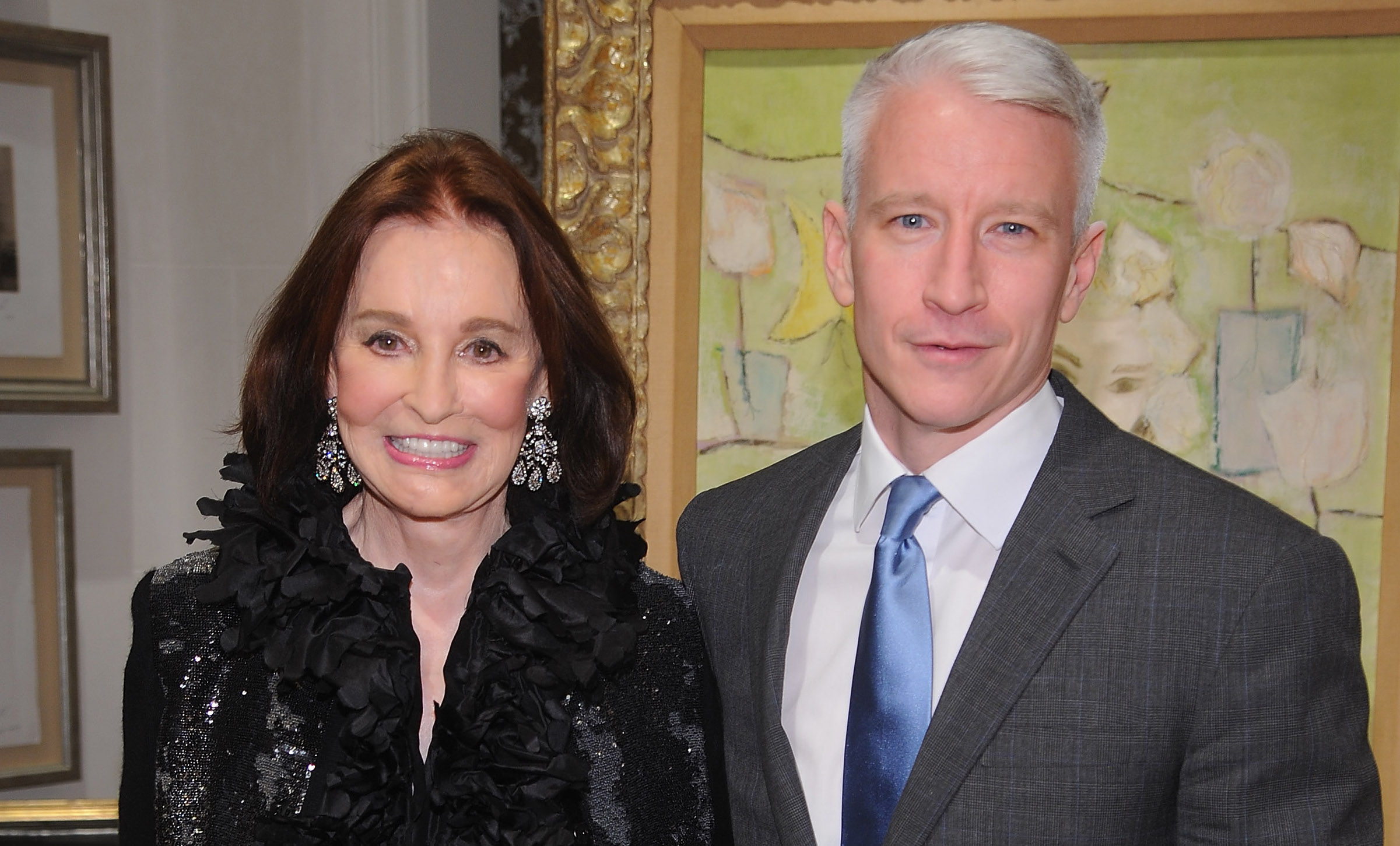 Nyc apartment cooper and vanderbilt at carter s funeral service above - Anderson Cooper And Gloria Vanderbilt The Rainbow Comes And Goes Diane Rehm