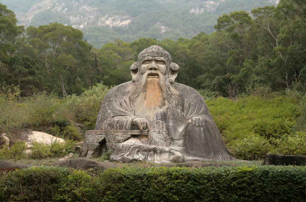 Philosopher Laozi, depicted in this statue in Quanzhou, China, may have died in 531 BC, but his lessons are still applicable today, this Harvard professor argues.
