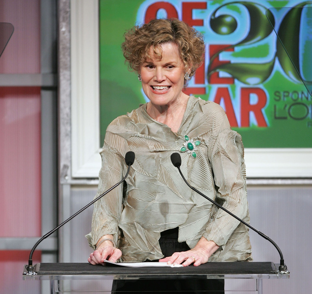 "Author Judy Blume accepts her award during the 15th Annual Glamour Magazine ""Women of the Year"" awards at the American Museum of Natural History."