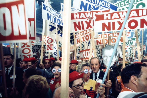 Nixon supporters at the 1968 Republican National Convention.