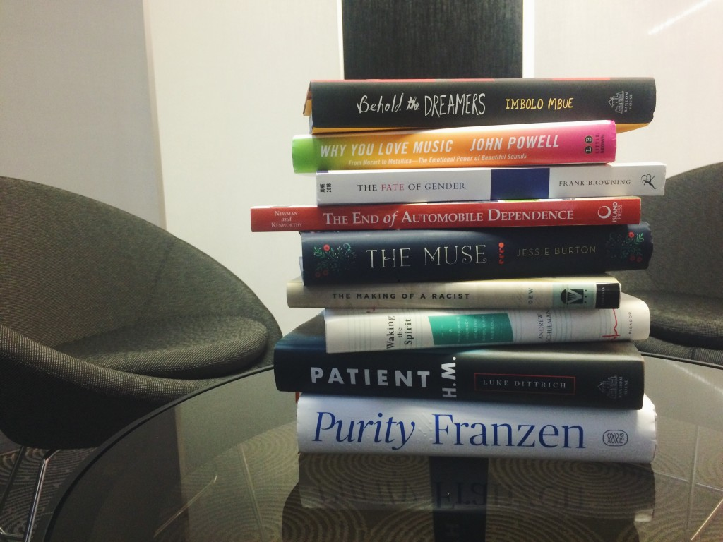 A selection of the books we'll be talking about in August.