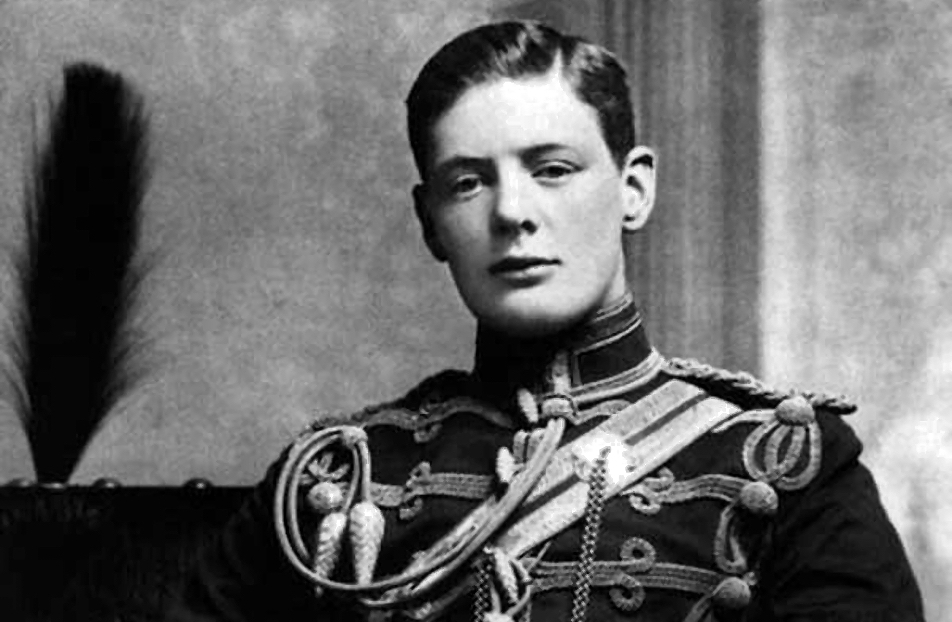 Winston Churchill in military uniform in 1895.