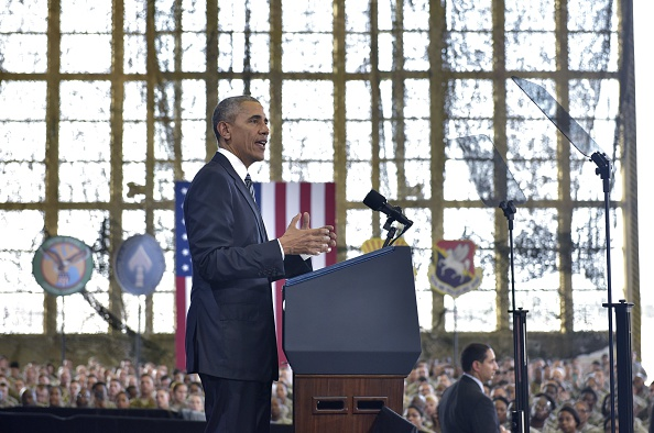 US President Barack Obama speaks at MacDill Air Force Base in Tampa, Florida on December 6, 2016.  Obama has ordered a full review of Russian hacking during the 2016 presidential election.