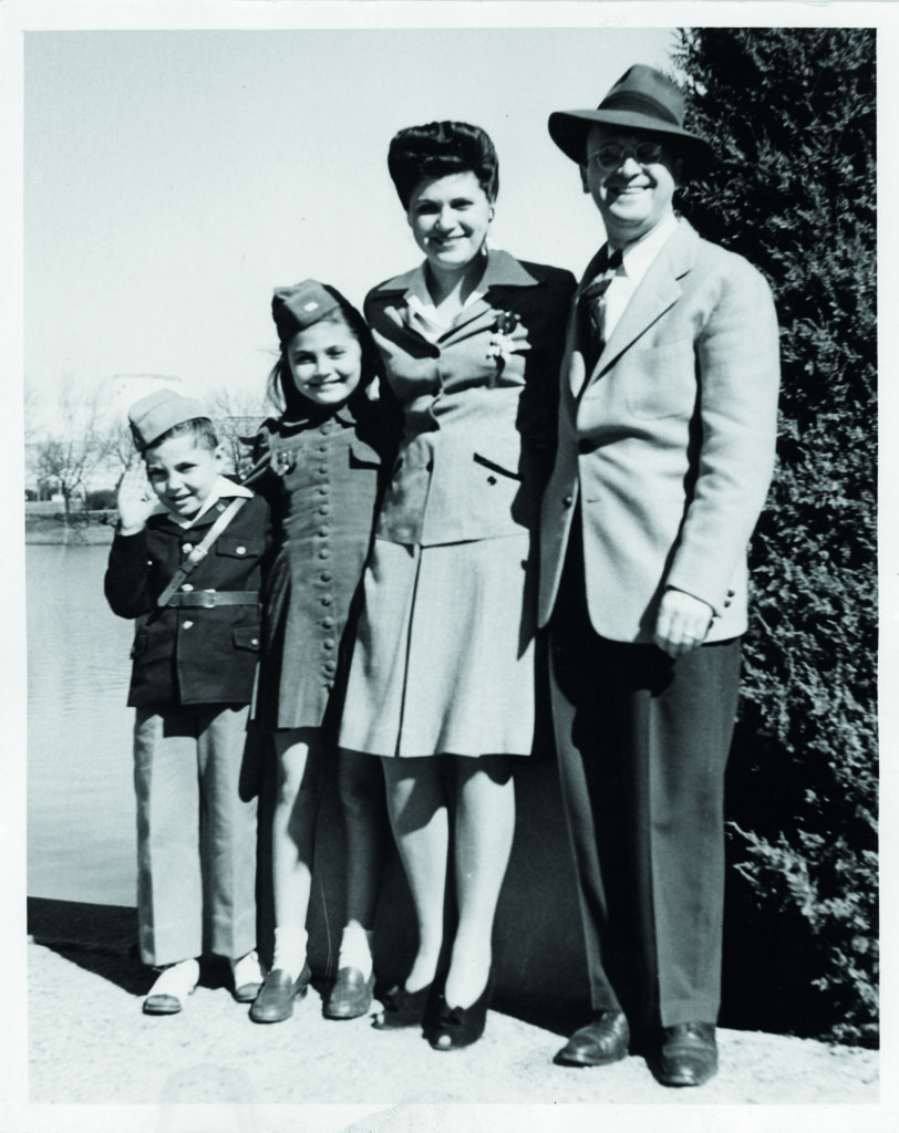 Abraham and Lillian Zapruder with the children, Myrna and Henry, at Fair Park in Dallas, Texas, 1942.