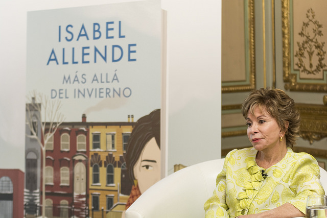 "Earlier this year author Isabel Allende discussed her new novel, ""In the Midst of Winter,"" in Madrid, Spain.  She writes all her books in her native Spanish. They are then translated into numerous languages  read around the world."