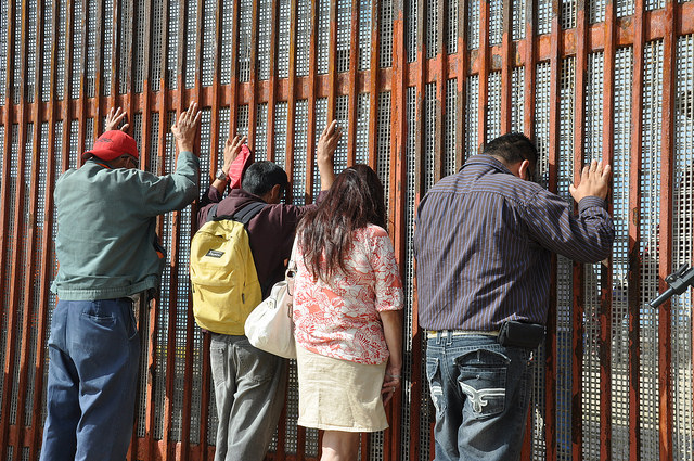 Four migrants detained at the border in 2014.
