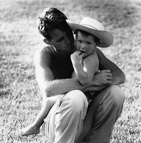 Robert F. Kennedy with his son, David. Kennedy and his wife, Ethel, had eleven children. Kerry Kennedy was their seventh child.