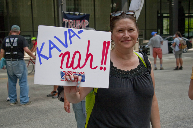 A rally against the nomination of Brett Kavanaugh for the Supreme Court in Chicago, Ill.