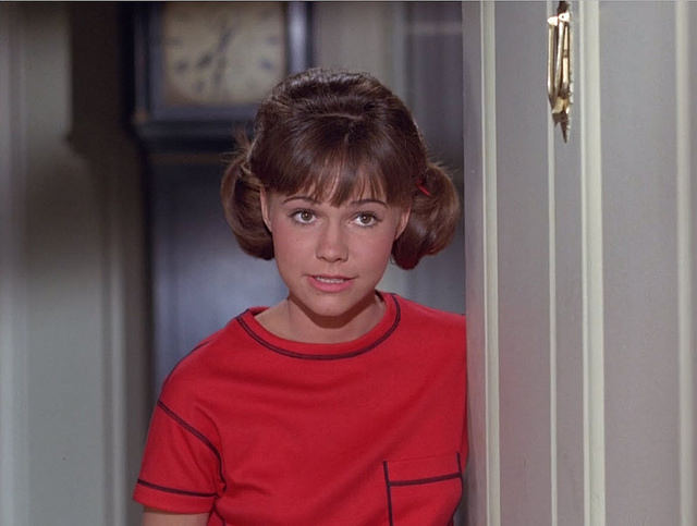 Sally Field starring as Gidget in 1965. As she writes in her new memoir,  Gidget's bright cheery world was very different from Field's real life as a struggling teenager.