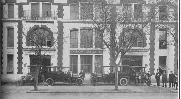 Dupont Garage, early 1900s.