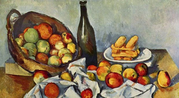 Still life painting by Paul Cézanne.