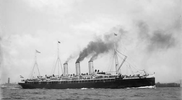 The Augusta Victoria, the steamship on which Nellie Bly crossed the Atlantic.