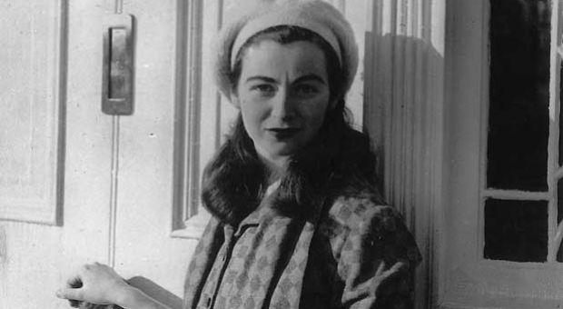 Edna O'Brien in Lake Park, County Wicklow, in 1952.