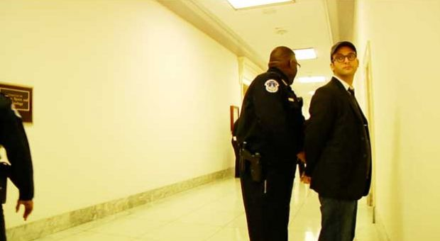 Josh Fox was arrested in February 2012 while attempting to film a congressional hearing on natural gas fracking.