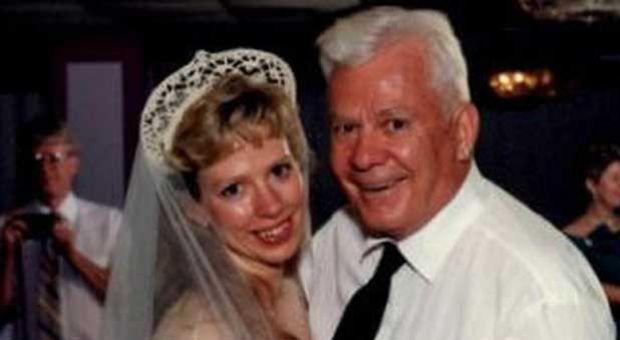 Barbara Mancini with her father, Joe Yourshaw.