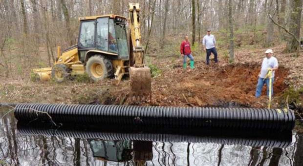 Cleanup from a March 29 oil pipeline leak continues in a Mayflower, Ark., neighborhood.