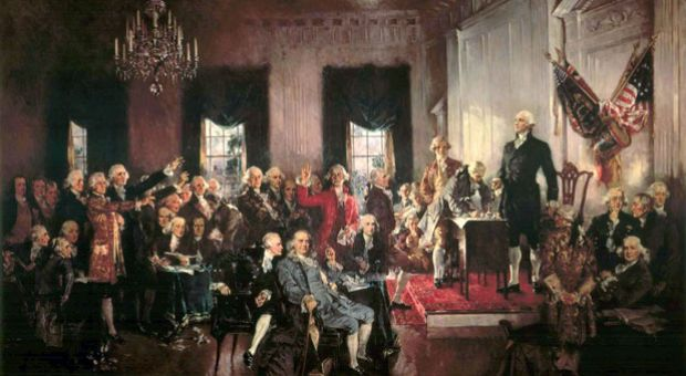 Scene at the Signing of the Constitution of the United States, by Howard Chandler Christy