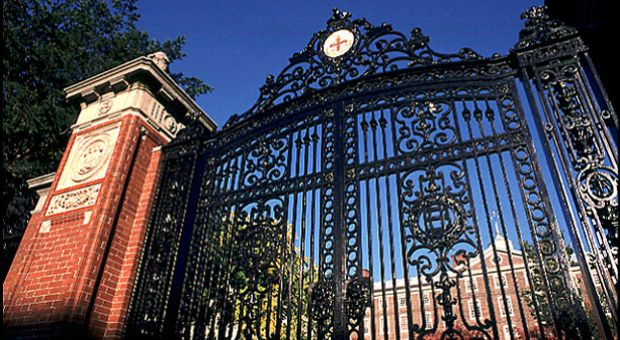 Van Wickle Gates and University Hall at Brown University. In 2003, the university appointed a committee on slavery and justice to investigate the school's historical relationship to slavery and the transatlantic slave trade.